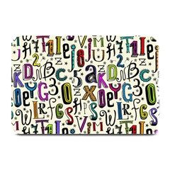 Colorful Retro Style Letters Numbers Stars Plate Mats by EDDArt