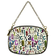 Colorful Retro Style Letters Numbers Stars Chain Purses (one Side)  by EDDArt