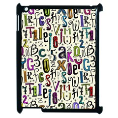 Colorful Retro Style Letters Numbers Stars Apple Ipad 2 Case (black) by EDDArt