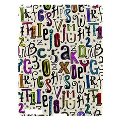 Colorful Retro Style Letters Numbers Stars Apple Ipad 3/4 Hardshell Case by EDDArt