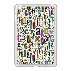Colorful Retro Style Letters Numbers Stars Apple Ipad Mini Case (white) by EDDArt