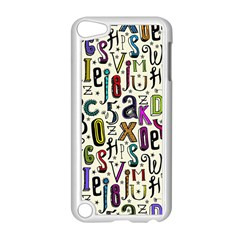Colorful Retro Style Letters Numbers Stars Apple Ipod Touch 5 Case (white) by EDDArt