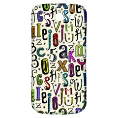 Colorful Retro Style Letters Numbers Stars Samsung Galaxy S3 S Iii Classic Hardshell Back Case by EDDArt