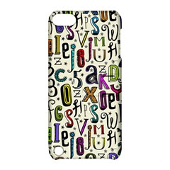 Colorful Retro Style Letters Numbers Stars Apple Ipod Touch 5 Hardshell Case With Stand by EDDArt