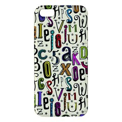 Colorful Retro Style Letters Numbers Stars Apple Iphone 5 Premium Hardshell Case by EDDArt