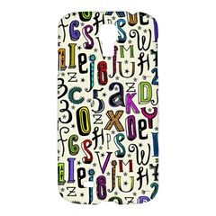 Colorful Retro Style Letters Numbers Stars Samsung Galaxy S4 I9500/i9505 Hardshell Case by EDDArt