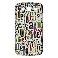 Colorful Retro Style Letters Numbers Stars Samsung Galaxy Mega 5 8 I9152 Hardshell Case  by EDDArt