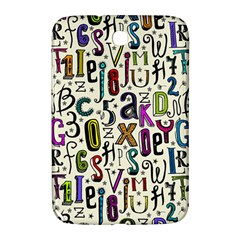 Colorful Retro Style Letters Numbers Stars Samsung Galaxy Note 8 0 N5100 Hardshell Case  by EDDArt