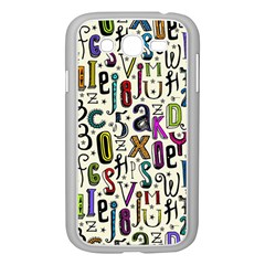 Colorful Retro Style Letters Numbers Stars Samsung Galaxy Grand Duos I9082 Case (white) by EDDArt