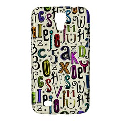 Colorful Retro Style Letters Numbers Stars Samsung Galaxy Mega 6 3  I9200 Hardshell Case by EDDArt
