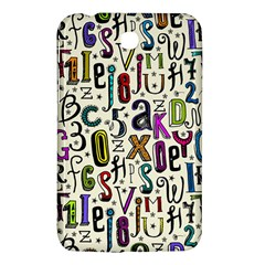 Colorful Retro Style Letters Numbers Stars Samsung Galaxy Tab 3 (7 ) P3200 Hardshell Case  by EDDArt