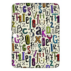 Colorful Retro Style Letters Numbers Stars Samsung Galaxy Tab 3 (10 1 ) P5200 Hardshell Case  by EDDArt