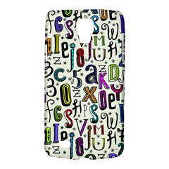 Colorful Retro Style Letters Numbers Stars Galaxy S4 Active by EDDArt