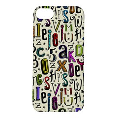 Colorful Retro Style Letters Numbers Stars Apple Iphone 5s/ Se Hardshell Case by EDDArt