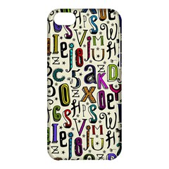 Colorful Retro Style Letters Numbers Stars Apple Iphone 5c Hardshell Case by EDDArt