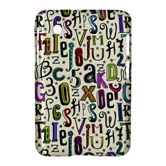 Colorful Retro Style Letters Numbers Stars Samsung Galaxy Tab 2 (7 ) P3100 Hardshell Case  by EDDArt