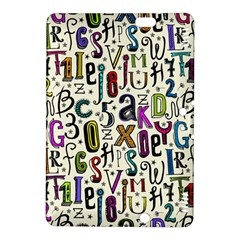 Colorful Retro Style Letters Numbers Stars Kindle Fire Hdx 8 9  Hardshell Case by EDDArt