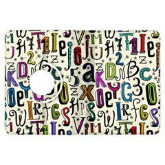 Colorful Retro Style Letters Numbers Stars Kindle Fire Hdx Flip 360 Case by EDDArt