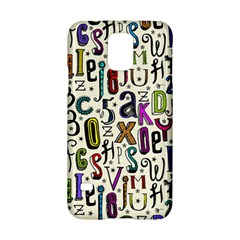 Colorful Retro Style Letters Numbers Stars Samsung Galaxy S5 Hardshell Case  by EDDArt