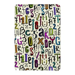 Colorful Retro Style Letters Numbers Stars Samsung Galaxy Tab Pro 10 1 Hardshell Case by EDDArt
