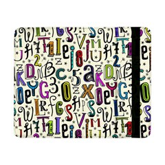 Colorful Retro Style Letters Numbers Stars Samsung Galaxy Tab Pro 8 4  Flip Case by EDDArt
