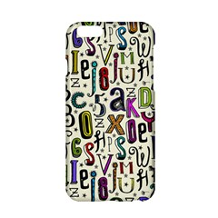 Colorful Retro Style Letters Numbers Stars Apple Iphone 6/6s Hardshell Case by EDDArt