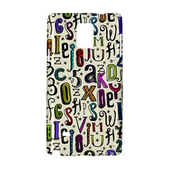 Colorful Retro Style Letters Numbers Stars Samsung Galaxy Note 4 Hardshell Case by EDDArt