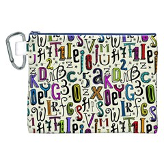Colorful Retro Style Letters Numbers Stars Canvas Cosmetic Bag (xxl) by EDDArt