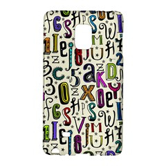 Colorful Retro Style Letters Numbers Stars Galaxy Note Edge by EDDArt