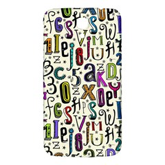 Colorful Retro Style Letters Numbers Stars Samsung Galaxy Mega I9200 Hardshell Back Case by EDDArt