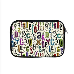 Colorful Retro Style Letters Numbers Stars Apple Macbook Pro 15  Zipper Case by EDDArt