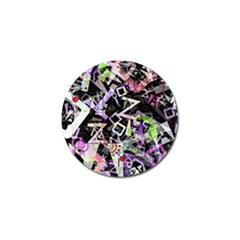 Chaos With Letters Black Multicolored Golf Ball Marker (10 Pack) by EDDArt