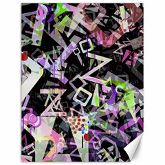 Chaos With Letters Black Multicolored Canvas 12  X 16   by EDDArt
