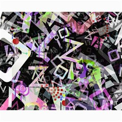 Chaos With Letters Black Multicolored Canvas 16  X 20   by EDDArt