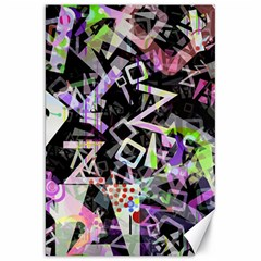 Chaos With Letters Black Multicolored Canvas 20  X 30   by EDDArt