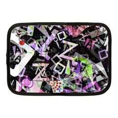 Chaos With Letters Black Multicolored Netbook Case (medium)  by EDDArt