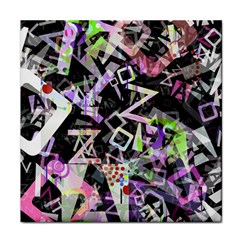 Chaos With Letters Black Multicolored Face Towel by EDDArt