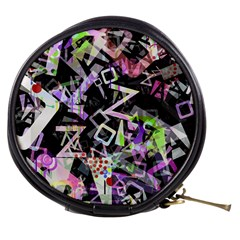 Chaos With Letters Black Multicolored Mini Makeup Bags by EDDArt