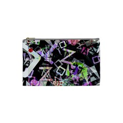 Chaos With Letters Black Multicolored Cosmetic Bag (small)  by EDDArt
