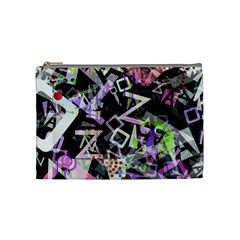 Chaos With Letters Black Multicolored Cosmetic Bag (medium)  by EDDArt