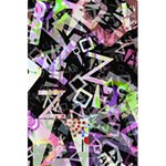 Chaos With Letters Black Multicolored 5.5  x 8.5  Notebooks Back Cover