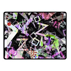 Chaos With Letters Black Multicolored Fleece Blanket (small) by EDDArt