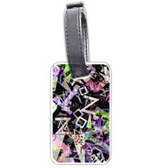 Chaos With Letters Black Multicolored Luggage Tags (one Side)  by EDDArt