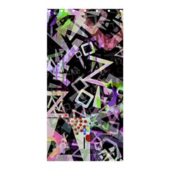 Chaos With Letters Black Multicolored Shower Curtain 36  X 72  (stall)  by EDDArt