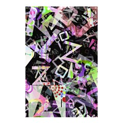 Chaos With Letters Black Multicolored Shower Curtain 48  X 72  (small)  by EDDArt