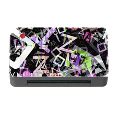 Chaos With Letters Black Multicolored Memory Card Reader With Cf by EDDArt