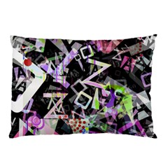 Chaos With Letters Black Multicolored Pillow Case (two Sides) by EDDArt