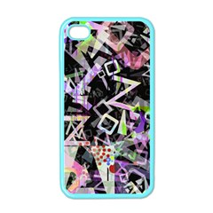 Chaos With Letters Black Multicolored Apple Iphone 4 Case (color) by EDDArt