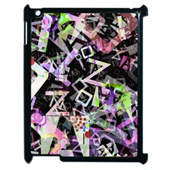 Chaos With Letters Black Multicolored Apple Ipad 2 Case (black) by EDDArt