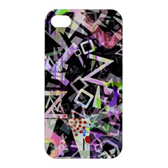 Chaos With Letters Black Multicolored Apple Iphone 4/4s Hardshell Case by EDDArt